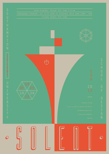 Degree Show Poster Dale Fletcher Portfolio CV Workspace